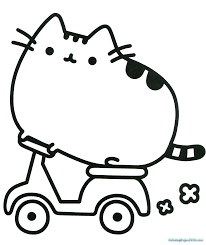 Pusheen Coloring Pages Best Friends
