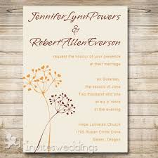 Simple Rustic Dandelion Bohemian Wedding Invitations IWI278