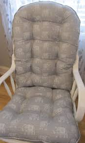 100 Jumbo Rocking Chair Glider Or Cushions Set In Storm Grey With Etsy