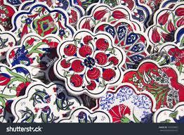 ancient handmade turkish tiles sale on stock photo 153493895