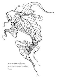 LostBumblebee C2015 MDBN GROWN UP COLOURING COLORING SHEETS KOI FISH