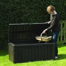Keter Woodland Storage Box by Garden Storage Home Outdoor Decoration