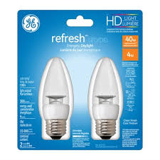 ge high definition 2 pack 40 w equivalent dimmable daylight b10
