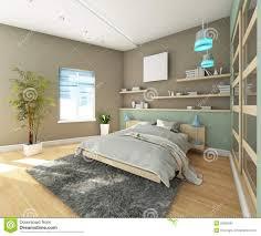 jugendlich schlafzimmer mit teppich stock abbildung