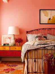Wall Color Ideas Orange Nuances Of Warm Tones Bedroom Set
