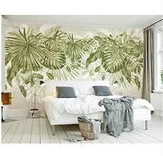 tapete für schlafzimmer wände frisches grünes gras laub