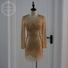 online get cheap cocktail dresses gold aliexpress com alibaba group
