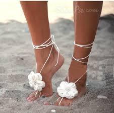Shoes Sandals Jewelry Floral Lace Chrochet Beach Summer Feet Boho Bohemian Grunge Flowers White