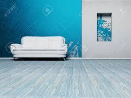 moderne innenarchitektur aus einem wohnzimmer mit einem schönen sofa und ein uhr an der wand nische