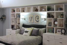 Lovely White Shelves For Bedroom Walls