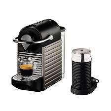 Nespresso Pixie Espresso Machine With Aeroccino Milk Frother C51BU TI