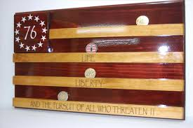 Flag And Coin Display Case Holder Tactical American Military Craft Gifts