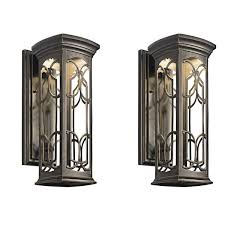traditional antique brass garden wall lantern for period home