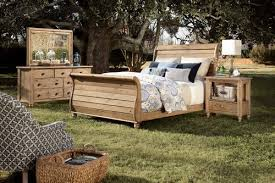 The Home ing Vintage Pine Cumberland Sleigh Queen Bed sold at