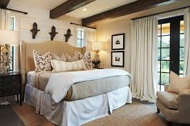 Bedroom Color Palettes Rustic With Painted Wood Beige Wall Bedding