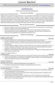 Management Resume Examples Professional Writers Rh Resumeprofessionalwriters Com Facility Manager Format India Facilities Director