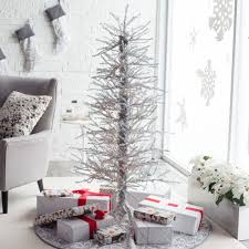 Types Of Christmas Trees With Sparse Branches by Flocked White Twig Tree Pre Lit Full Christmas Tree Hayneedle