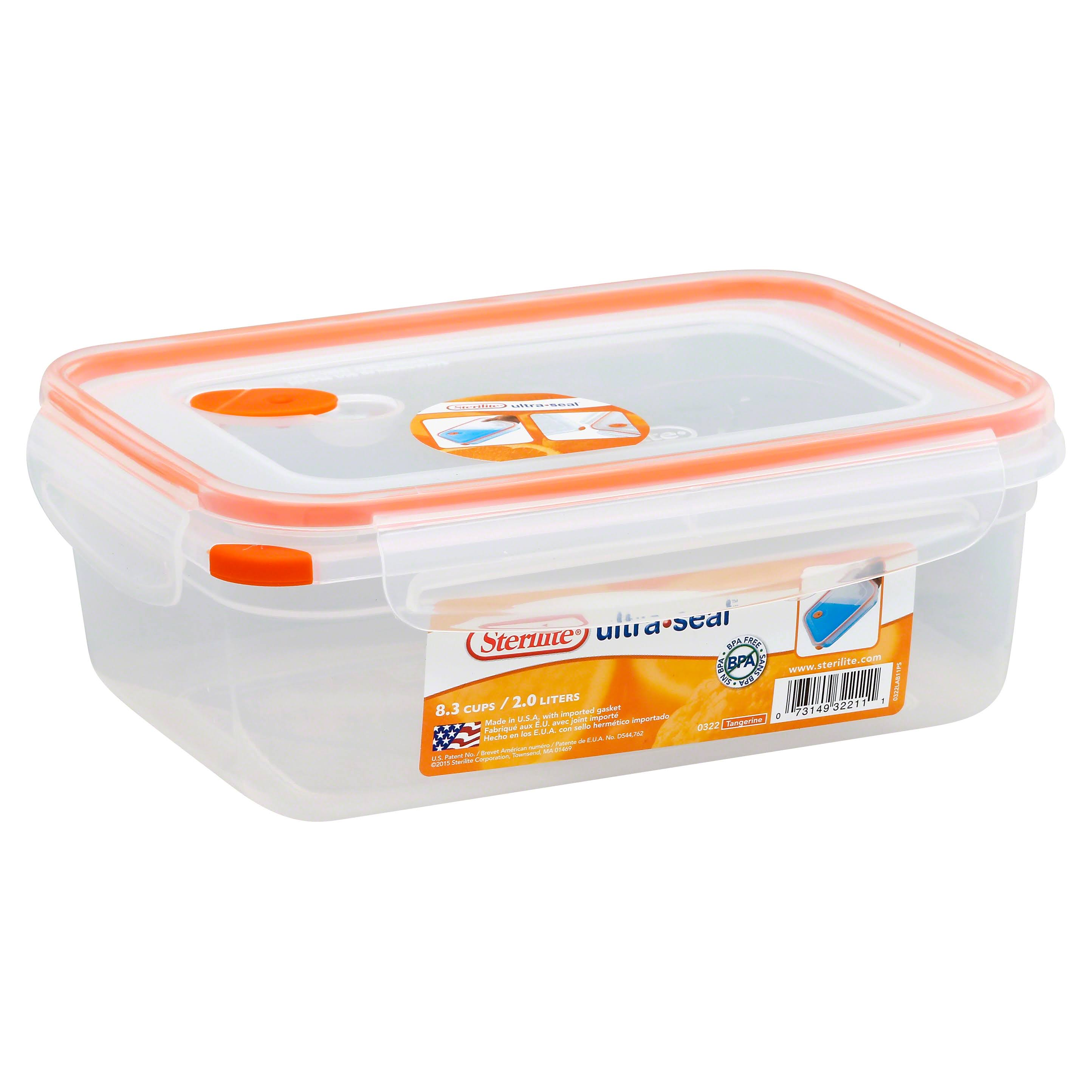 Sterilite 03221106 Ultra-Seal Food Container, Rectangle