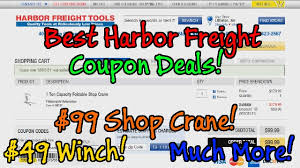 100 Truck And Winch Coupon Code How To Get Amazing Harbor Freight Deals 99 Shop Crane 49