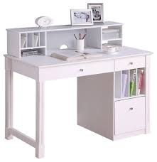 Walker Edison 3 Piece Contemporary Desk Instructions by Deluxe White Wood Computer Desk With Hutch Transitional Desks