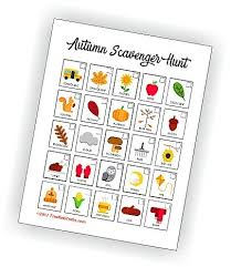 Printable Autumn Scavenger Hunt