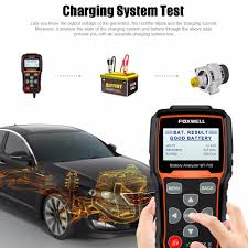 100 Heavy Duty Truck Battery Charger FOXWELL BT705 12V 24V Tester 100 2000 CCA Charging System