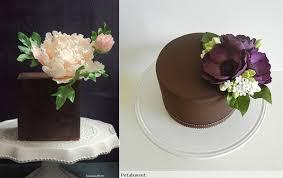 chocolate cake decorating chocolate cakes by Jessica Vu via CakesDecor left and chocolate cake by PetalSweet