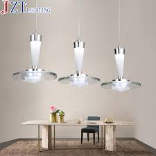 M Best Price 3 Head Led Restaurant Hanging Lamp Dia35cm H185cm Pendant Lights For Dining Room Bright Silver Iron Painted