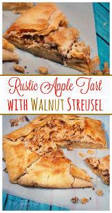 Rustic Apple Tart With Walnut Streusel Dulce De Leche