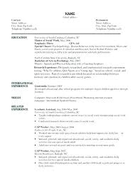 Msw Resume Sample And Social Worker Example Of Work Resumes