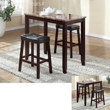 Details About Pub Table Set 3 Piece Bar Stools Dining Kitchen Furniture  Counter Height Chairs