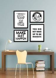 Office Decor Idea Modern Motivational Style Cool Prints Quote Poster Cubicle