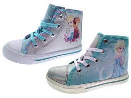 kids girls disney frozen lace up hi tops boots pumps trainers