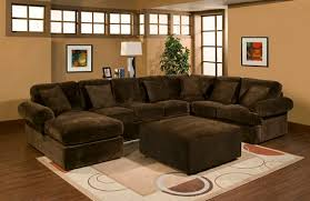 Chocolate Corduroy Sectional Sofa by 3 Pc Bradley Sectional Sofa With Chocolate Plush Velour Microfiber