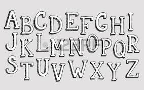 Doodle 3d Alphabet Vector Simple Hand Drawn Letters Textured With Pencil Doodles Decorative Font