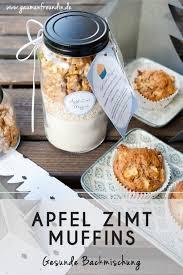 apfel zimt muffins backmischung als geschenk aus der küche
