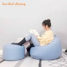 herzliche glänzende wohnzimmer sitzsack sofa bunte weiche