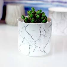 Marble Effect Mini Cactus Plant Pot Holder Candle Lantern Gorgeous