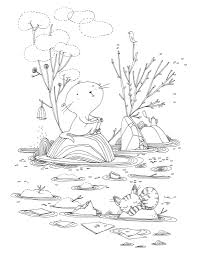 Otter Coloring Pages Coloring Pages Pinterest