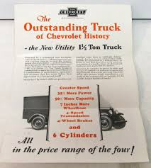100 1929 Chevy Truck Chevrolet Dealer Sales Mailer The New Utility 1 12 Ton 6