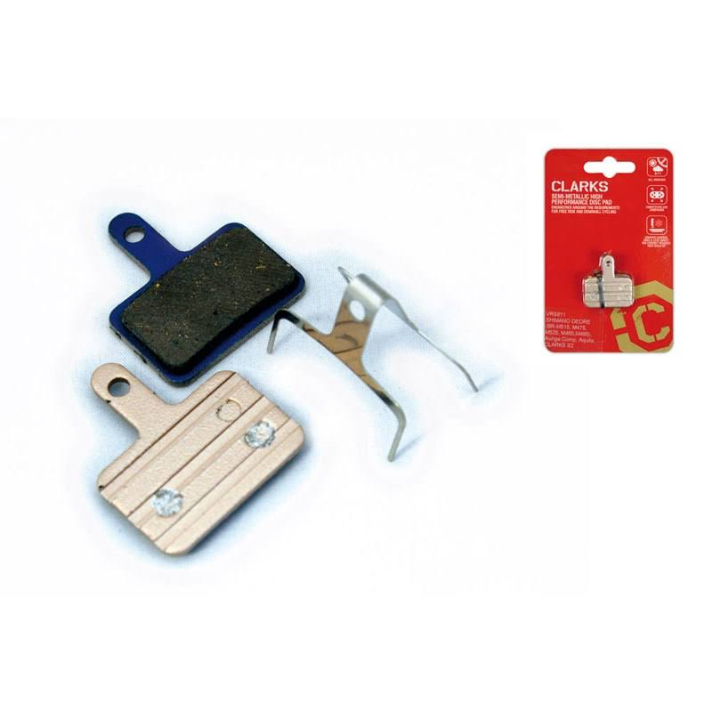 Clark Bike Brake Pads - Disc, Gold Shimano