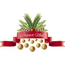 Scandinavian Christmas Sticker Santa Claus Christmas Tree Merry