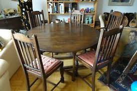 details zu angebot antique vintage 40er 50er englisch holz tische esszimmer 5 stühle