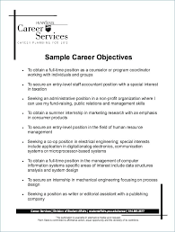 Objective For Resumes Resume Work Examples Of Ideas Management