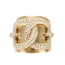 Rina Limor Fine Jewelry 18K Yellow Gold Diamond Band Ring Featured In Vente Privee