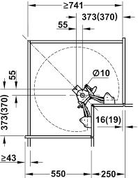 dreiviertelkreis drehbeschlag für eckschrank für 90