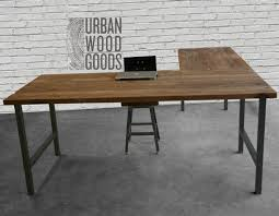 Reclaimed Wood Desk Top Office Furniture Modern Custom Reclaimed Wood Office Furniture Modern Wood Desk Custom L Shaped