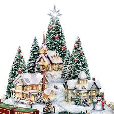 Thomas Kinkade Christmas Tree Village by Amazon Com Thomas Kinkade Christmas Village Floral Centerpiece