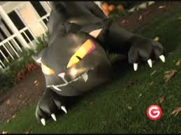 Halloween Blow Up Decorations For The Yard by Animated Airblown Huge Inflatable Black Cat With Moving Head