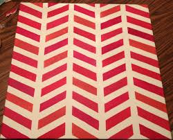 Make Bake And Love Diy Painted Chevron Canvas Here You Can See The Difference Between What